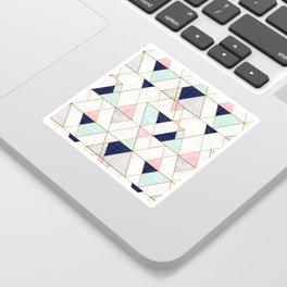 Mod Triangles - Navy Blush Mint Sticker