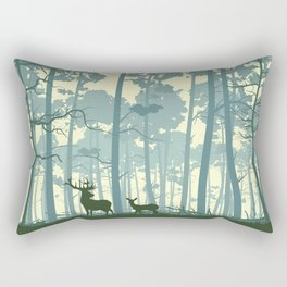 deer and deer in the forest Rectangular Pillow