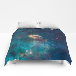 Stellar Jet in the Carina Nebula Comforters