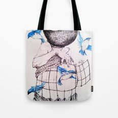 Human flight Tote Bag
