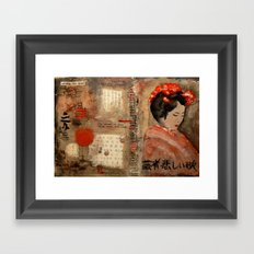 GEISHA SAD SONG Framed Art Print