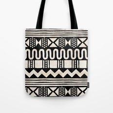 African Shapes - Black Tote Bag