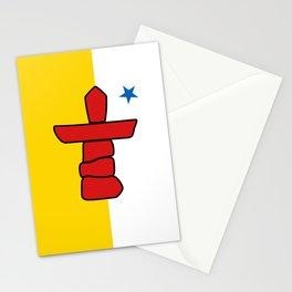 Nunavut Province flag Stationery Cards
