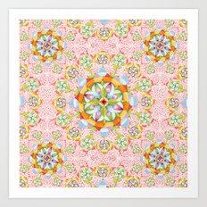Pink Paisley Mandala Art Print