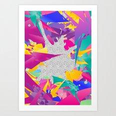 80s Abstract Art Print