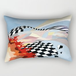 "Abstract composition ""space and time"". Rectangular Pillow"