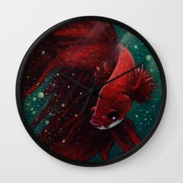 Fighter Fish Wall Clock