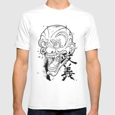 MASAYOSHI White MEDIUM Mens Fitted Tee