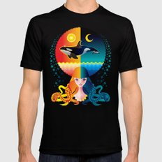 Dream - Sea Day & Night Mens Fitted Tee Black MEDIUM