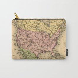 1867 Map of North America Carry-All Pouch