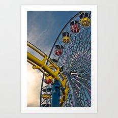 Pier Rides Art Print