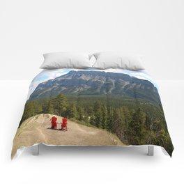 Enjoying The Beautiful View Comforters