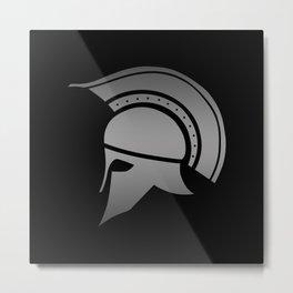 Ancient Greek Spartan Helmet Metal Print