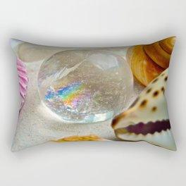 Lemurian Seed Rainbow - The Peace Collection Rectangular Pillow