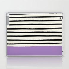 Lavender x Stripes Laptop & iPad Skin