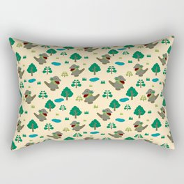 Moccomerian pattern Rectangular Pillow