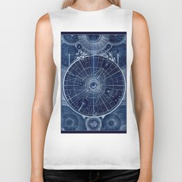 Celestial Map of the Universe Biker Tank