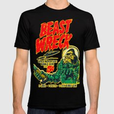 BEASTWRECK ATTACKS! Black Mens Fitted Tee X-LARGE