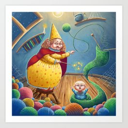 Witch and Baby Art Print