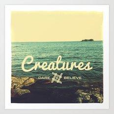 Creatures dare 2 believe - Swedish summer Art Print