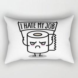 I hate my job -  Toiletpaper Rectangular Pillow