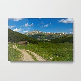 Tenmile Mountain Range from Mayflower Gulch Metal Print