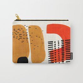 Mid Century Modern Abstract Minimalist Retro Vintage Style Fun Playful Ochre Yellow Ochre Orange  Tasche