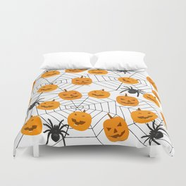 Halloween Pattern Spider Pumpkin Duvet Cover