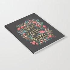 Little & Fierce on Charcoal Notebook