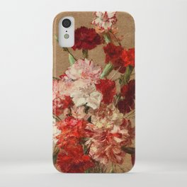 Henri Fantin Latour - Carnations Without Vase iPhone Case