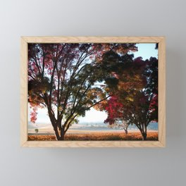 Australian Autumn Landscape Framed Mini Art Print