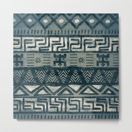 African black and white tribal pattern Metal Print