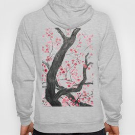 red plum flower forest Hoody