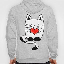 CAT IN LOVE - HEART Hoody