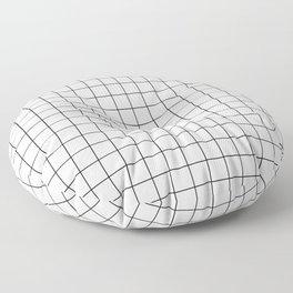Grid White Floor Pillow