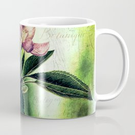 Rustic Dark Pink Flowers Modern Cottage Chic Country Art A139 Coffee Mug