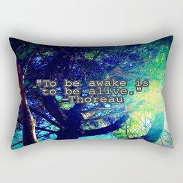 To Be Awake Rectangular Pillow