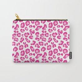 Leopard-Pinks on White Carry-All Pouch