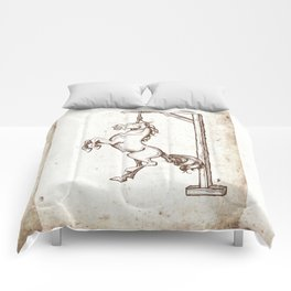 Well Hung Horse for the Man Cave Comforters