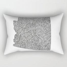 Arizona Map Rectangular Pillow