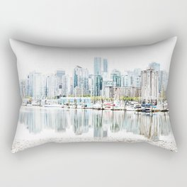 Vancouver Skyline Rectangular Pillow