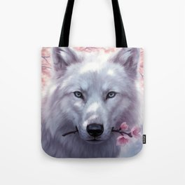 White and Pink Tote Bag