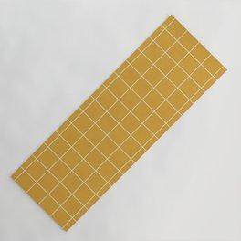 Small Grid Pattern - Mustard Yellow Yoga Mat