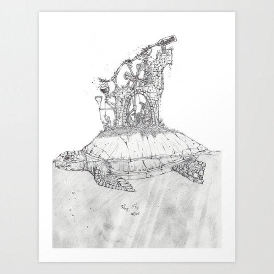 Turtle.  Art Print