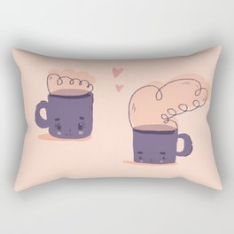 cute tiny mugs Rectangular Pillow