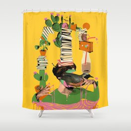 SURREAL KNOWLEDGE Shower Curtain