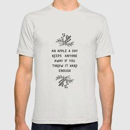 An Apple A Day BW T-shirt