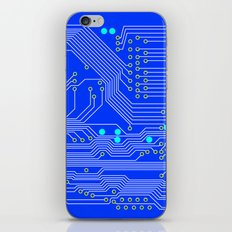 Blue Circuit Board  iPhone & iPod Skin