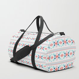 geometry navajo pattern Duffle Bag