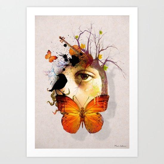 fluttery abstract   Art Print